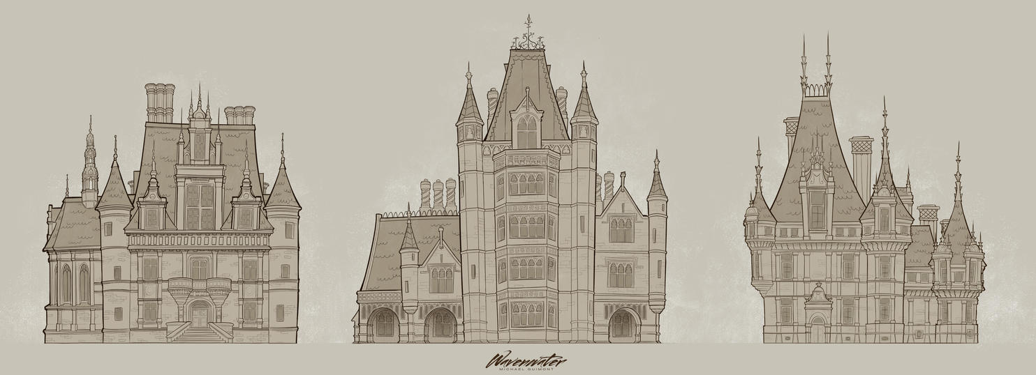 Castle Study Victorian Gothic Revival By Wavenwater