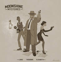 Moonshine mysteries character design by wavenwater