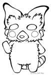 Red Panda Furry Black and White Free2Use