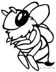 Chibi Bee Black and White Free2Use