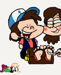 Dipper Tickled by Mabel