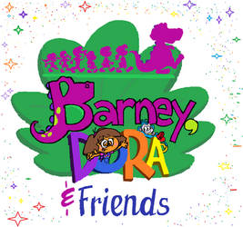 Barney, Dora and Friends Season 1 Title[REDRAW]