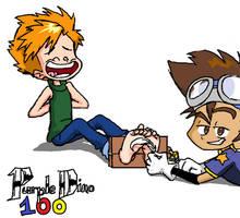 Digimon Tickles by PurpleDino100