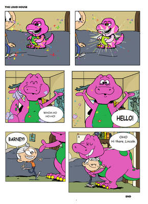 Barney Comes to Life in The Loud House
