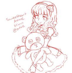 Sweetheart Annie sketch by Owlxie