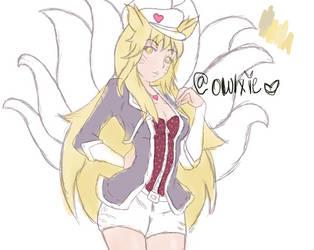 Popstar Ahri sketch by Owlxie