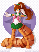 Commission: Cosplay Cat by padfootlet