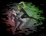 [+Speedpaint] Darkiplier VS Antisepticeye