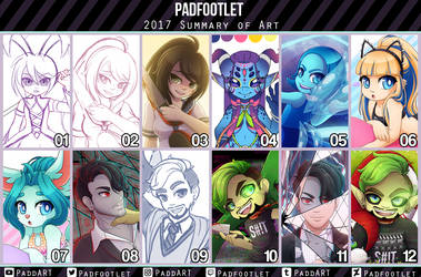 2017 Art Summary by padfootlet