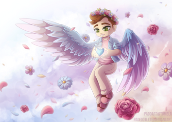 [+Speedpaint] Feathers and Flowers by padfootlet