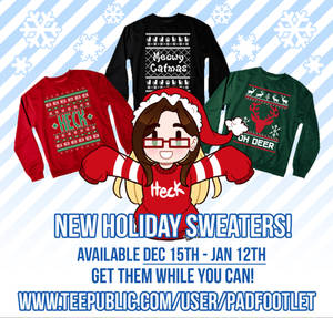 Super Late Holiday Sweaters!