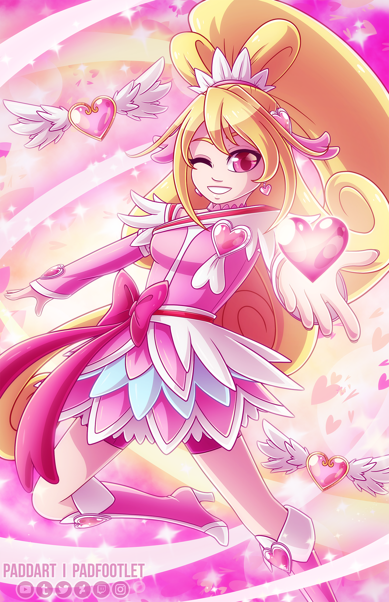 [+Speedpaint] Cure Heart by padfootlet