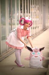 Nurse Joy X/Y cosplay by Itakichan