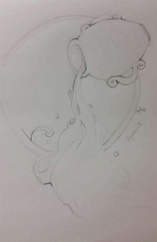 Aquarius sketch for ArtJam by LoOaSt