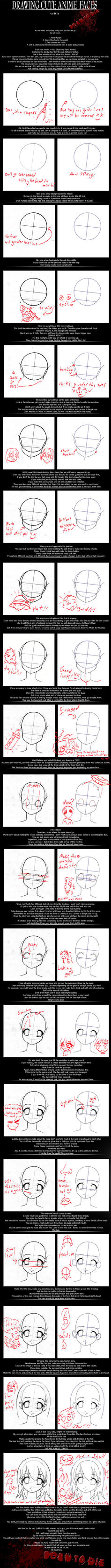 HOW TO DRAW ANIME FACES by B0RN-T0-DIE