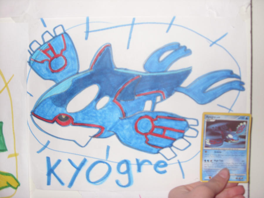 Kyogre and it's card by silver-moonwolf