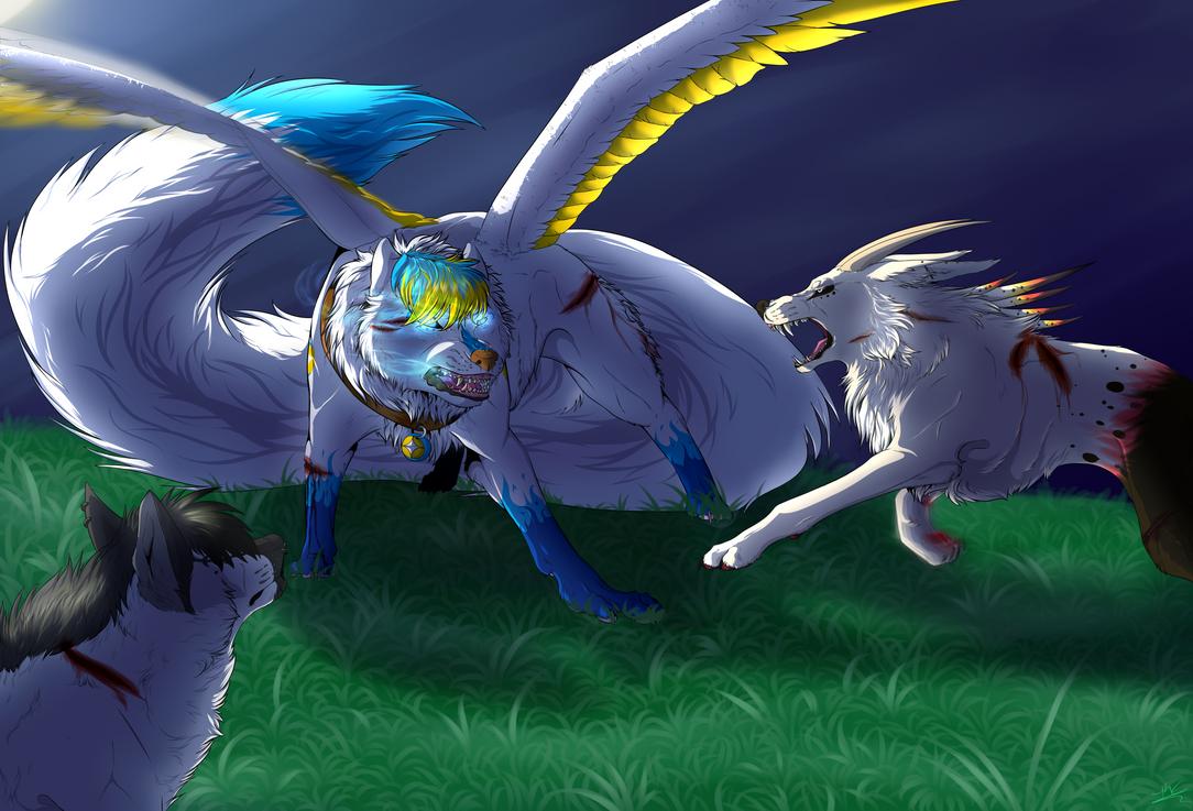 YCH For Kazurramah by silver-moonwolf