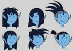 Adventure Time OC: Isrrael's Hair Styles by Universe-Ocean-Blue