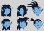 Adventure Time OC: Isrrael's Hair Styles by Universe-Ocean-Blue