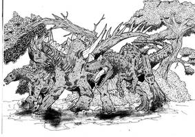 Prehistoric Corrida by Smnt2000
