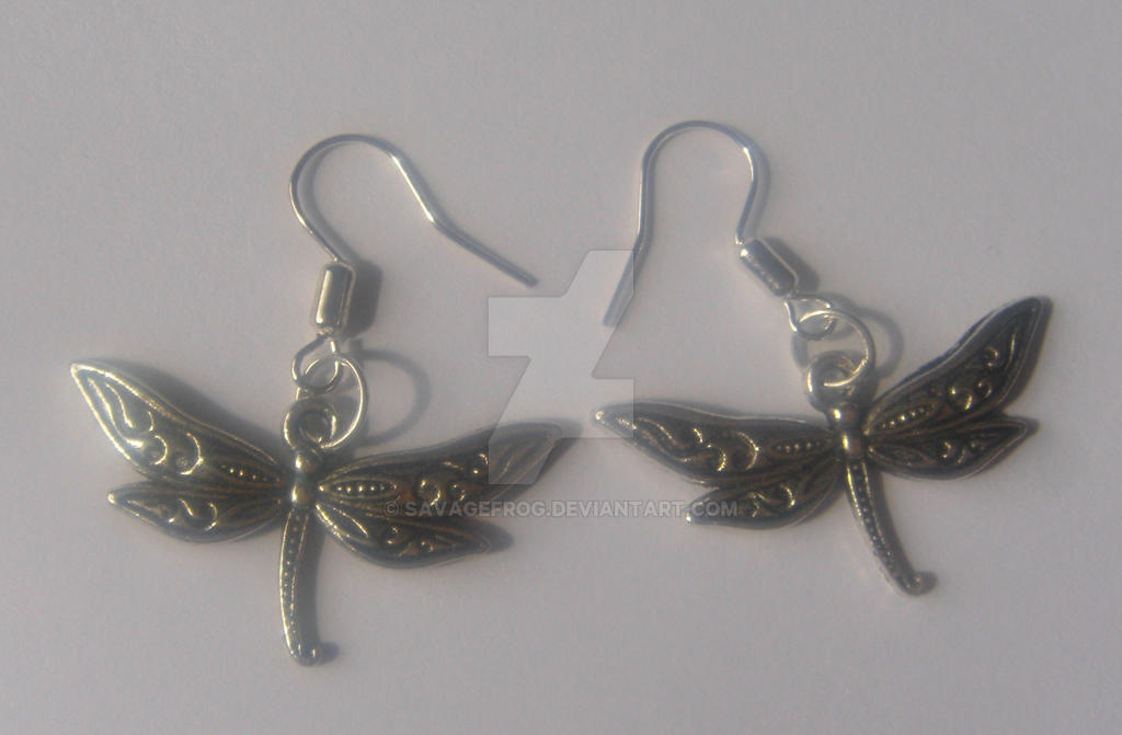 Dragonfly Earrings (SOLD) by SavageFrog