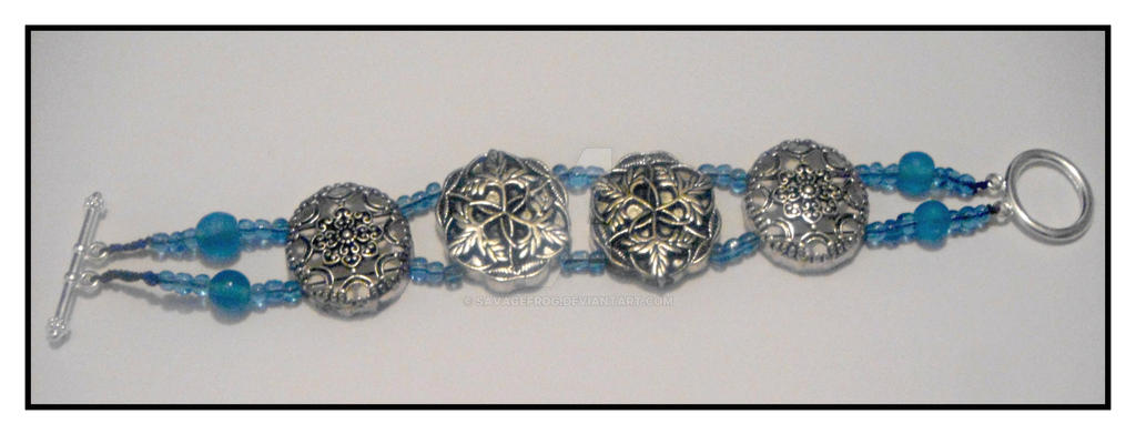 Ice and Silver Bracelet SOLD by SavageFrog