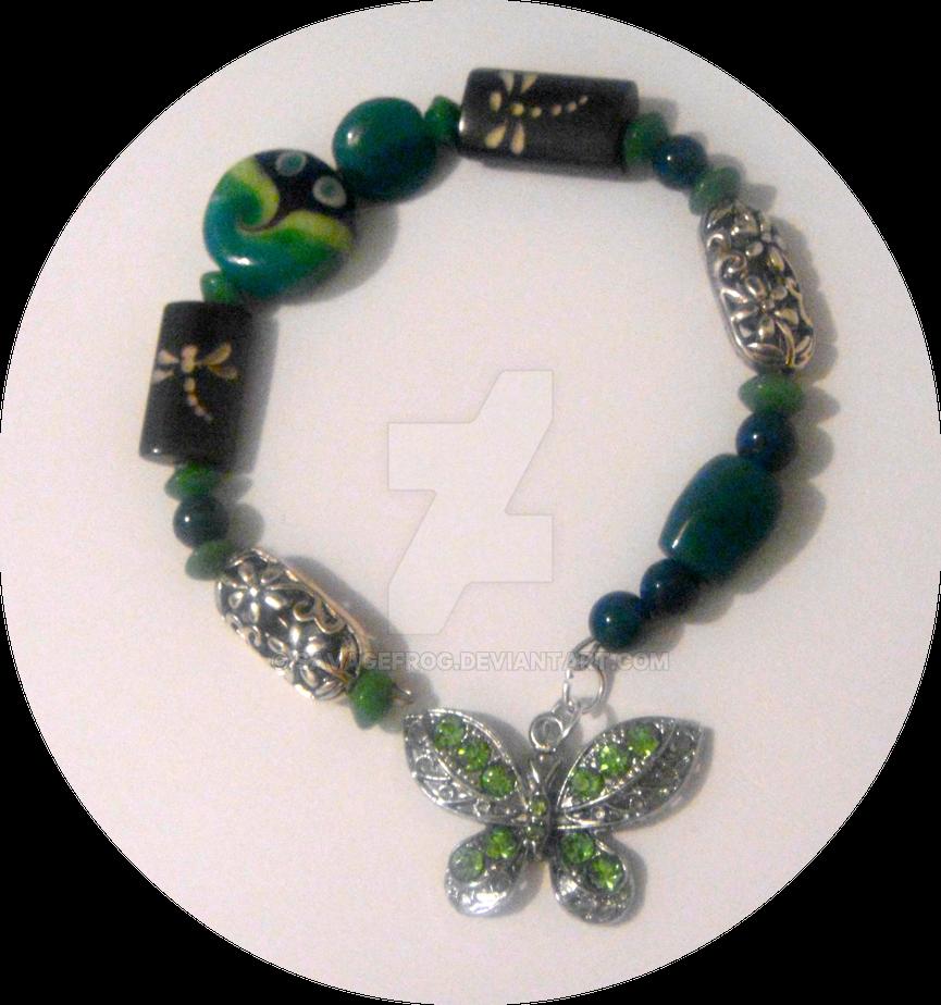 Jade Lotus Garden Bracelet by SavageFrog