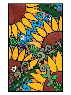 Sunflower Zentangle by SavageFrog