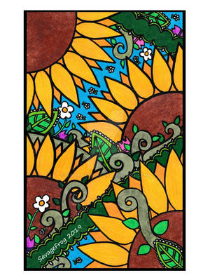 Sunflower Zentangle by SavageFrog