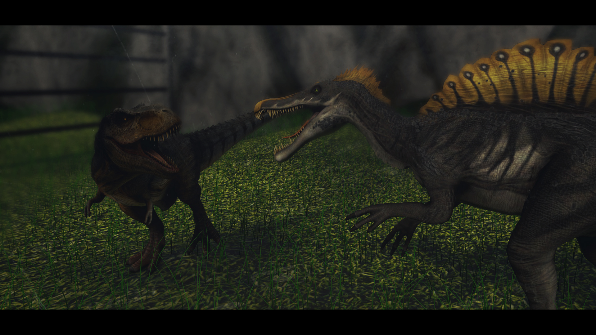 T-REX VS SPINOSAURUS ((REMAKE)) by DazFX on DeviantArt