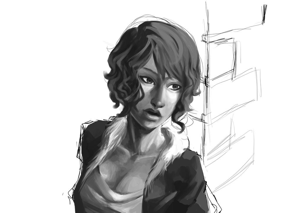 Street girl WIP by Kakera-Art