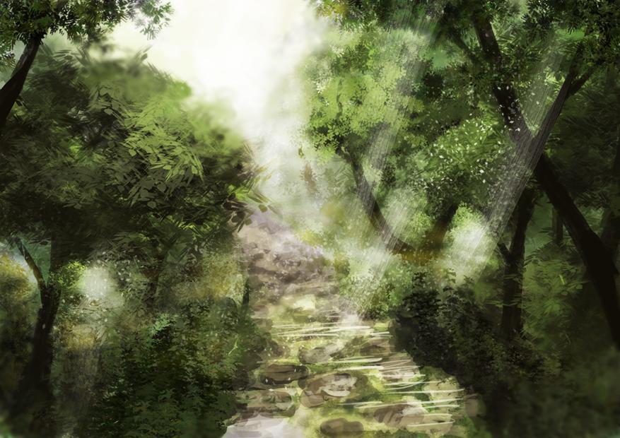 Forest Speedpaint by Kakera-Art
