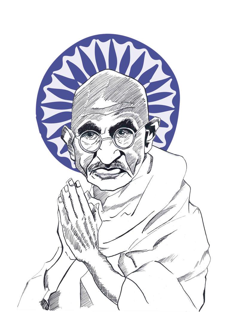 Gandhi by Sollyspond