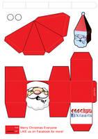 Santa Papercraft by dfordesmond
