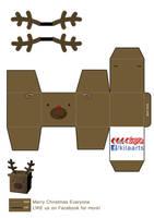 Reindeer papercraft by dfordesmond