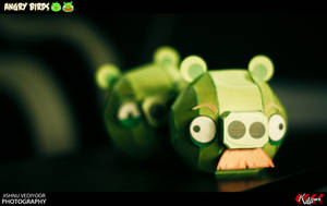 Angry Bird - Pig 1 and 2 by dfordesmond