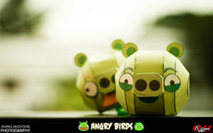 Angry Bird - Pig 2 and 1 by dfordesmond