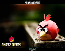 Red Angry Bird by dfordesmond