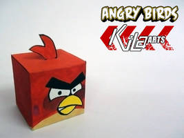 Red Angry Bird Cube by dfordesmond