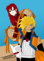 Grown up Gara and Naruto by tammalee