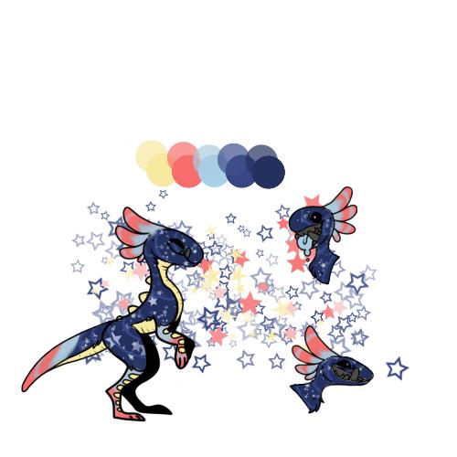 Star Mochi Raptor Adoptable 25pts [CLOSED] by PoppyseedMuffiin