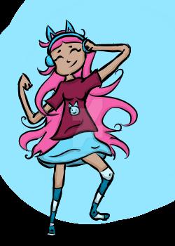 She's Definitely Dancing To Music by PoppyseedMuffiin
