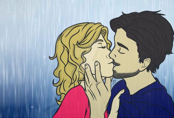 First Kiss by RaliaSangeLuna