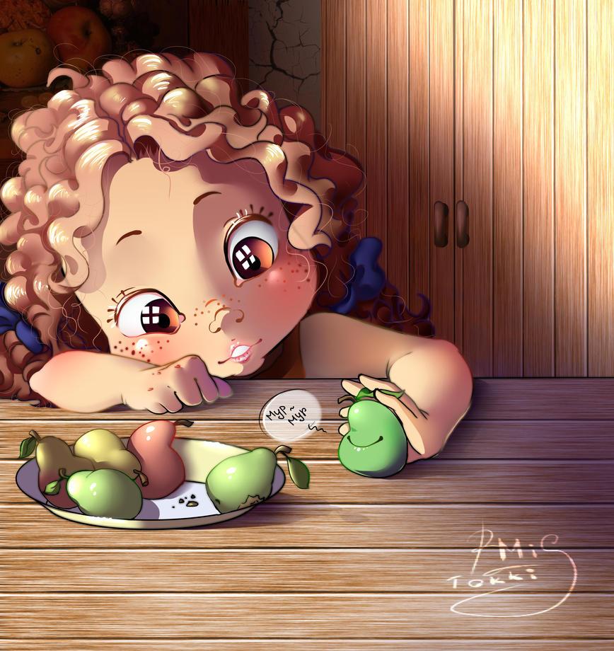 Cute pear by Mi-Tokki