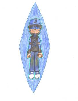 JimAboo V5 asleep in a giant crystal