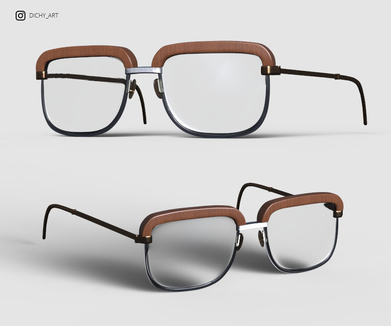 EYESGLASSES OBJ 3D by DichyAngel