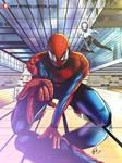 Spider-man and Spider-Gwen. by CrazyDraftsman