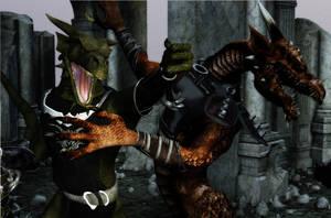Elemental Beast: Larc VS Darc by DarkNova666