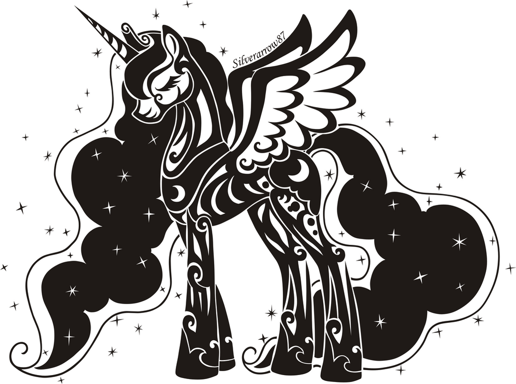 Luna angel of the night - tribal vector by Vasillium