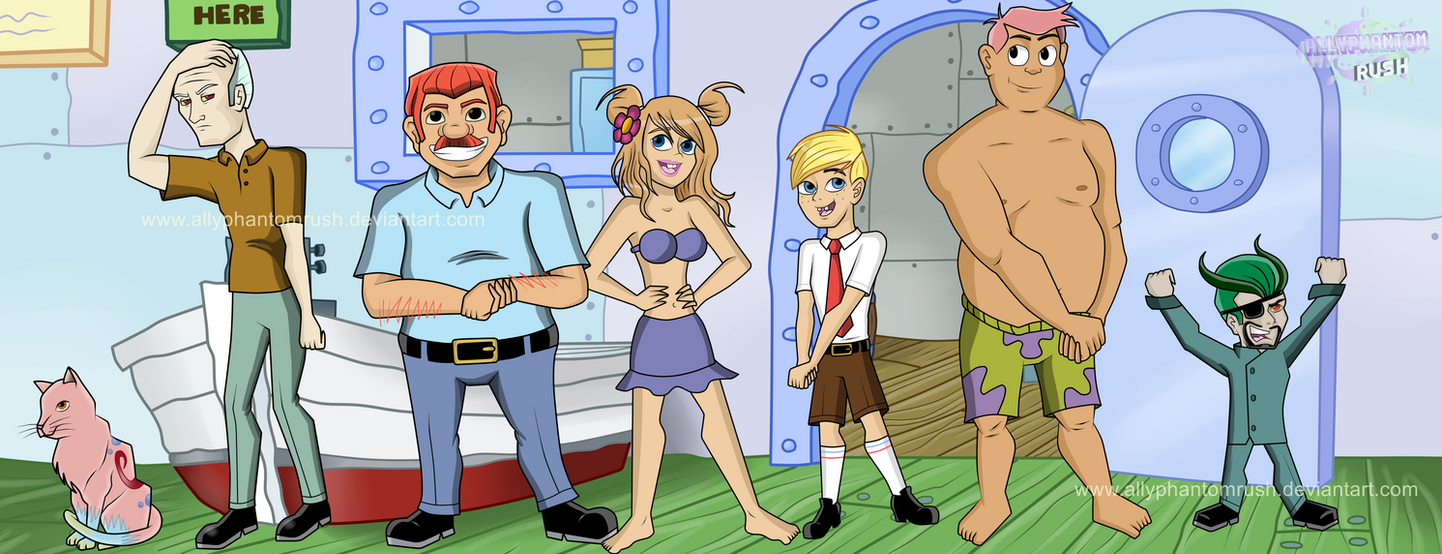 SpongeBob SquarePants Characters Humanized by AllyPhantomRush on ...